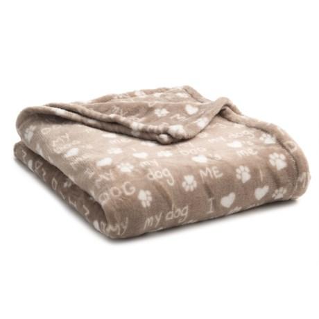 "THRO I Love My Dog Pet Blanket - 50x60"""