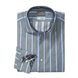 Thomas Dean Multi-Stripe Sport Shirt - Long Sleeve (For Men)