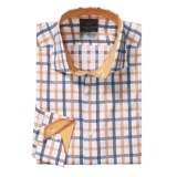 Thomas Dean Windowpane Sport Shirt - Long Sleeve (For Men and Tall Men)