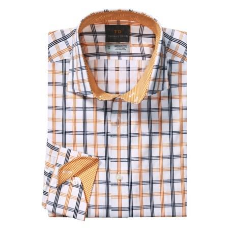 Thomas Dean Windowpane Sport Shirt - Long Sleeve (For Men and Tall Men)