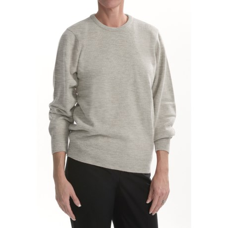 Johnstons of Elgin Round Neck Sweater - Cashmere (For Women)