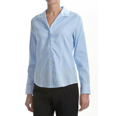 Paperwhite Cotton-Silk Shirt - Long Sleeve (For Women)