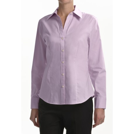 Paperwhite Mini-Stripe Shirt - Stretch Cotton, Long Sleeve (For Women)