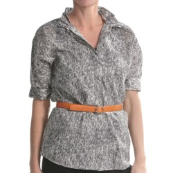 Paperwhite Cotton Dolman Shirt - Elbow Sleeve (For Women)