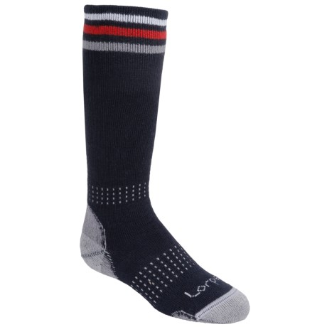 Lorpen Junior Ski Socks - 2- Pack Merino Wool, Over-the-Calf (For Kids and Youth)