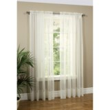 "Commonwealth Home Fashions Paris Sheer Cornelli Curtains - 108x84"", Rod Pocket"