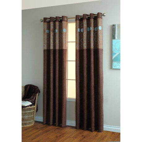 "Home Studio Circa Curtains - 84"", Grommet-Top, Faux Suede"