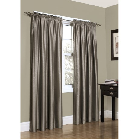 "Habitat Metallic Taffeta Curtains - 108x84"", Rod-Pocket Top"