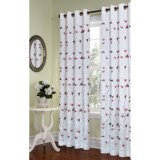 "Habitat Kaleidoscope Curtains - 84"", Embroidered Faux Silk, Grommet-Top"