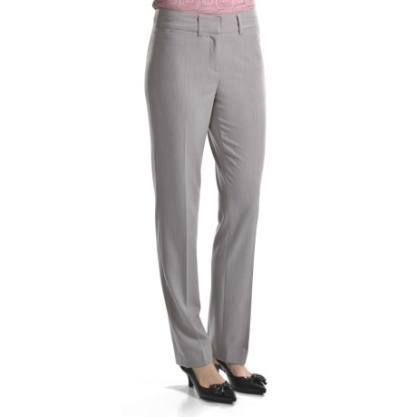 Atelier Luxe Laurel Cross-Dye Pants -Slim Leg (For Women)