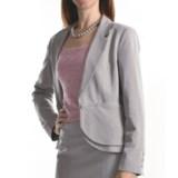 Atelier Luxe Cross-Dye Peplum Jacket (For Women)