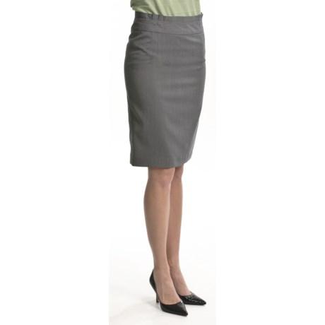 Atelier Luxe Microstripe Slim Skirt (For Women)