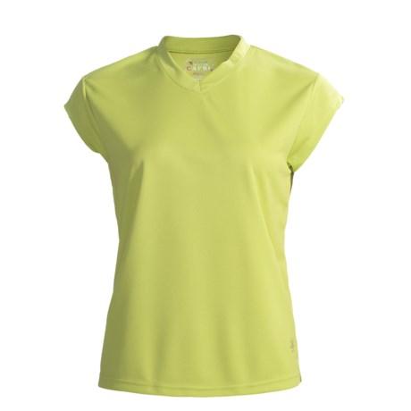 Nina Capri High-Performance V-Neck Shirt - Short Sleeve (For Women)