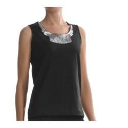 Joan Vass Sequin Necklace Tank Top (For Women)