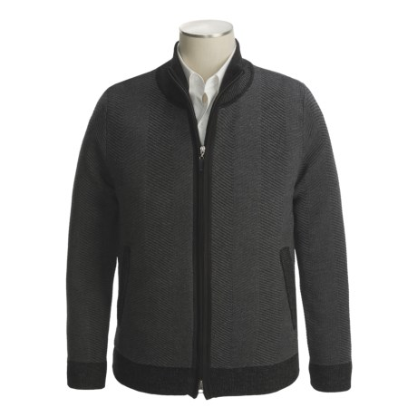 Isaiah Ciarrai Merino Wool Cardigan Sweater (For Men)