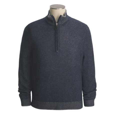 Isaiah Ciarrai Plated Cashmere Sweater - Zip Neck (For Men)