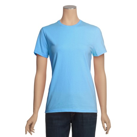 Hanes Heavyweight Cotton Tubular T-Shirt - Short Sleeve (For Women)