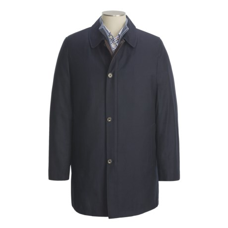 Hickey Freeman Classic Car Coat - Storm System Fabric by Loro Piana, Zip-Out Liner (For Men)