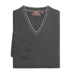 Hickey Freeman Cashmere Cable Sweater - V-Neck (For Men)
