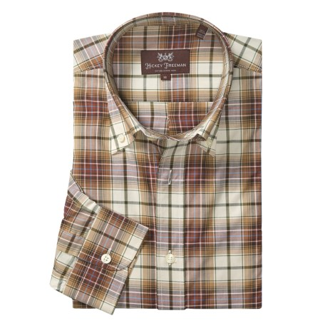 Hickey Freeman Check with Windowpane Overlay Sport Shirt - Long Sleeve (For Men)