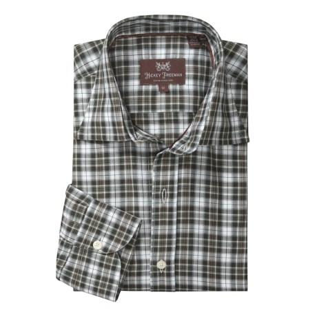 Hickey Freeman Mahogany Collection Check Sport Shirt - Long Sleeve (For Men)