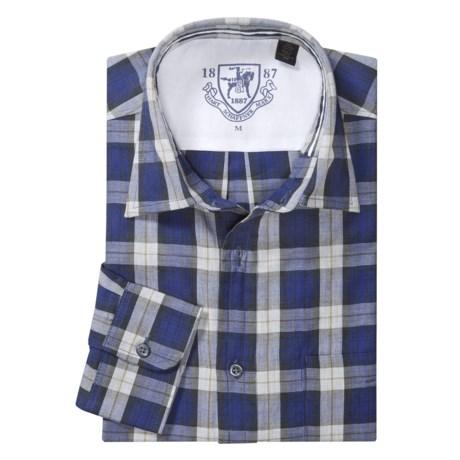 Hart, Schaffner & Marx Plaid Sport Shirt - Spread Collar, Long Sleeve (For Men)
