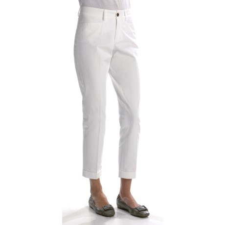 Bogner Clara Stretch Cotton Ankle Pants - Tapered Cuffed Leg (For Women)