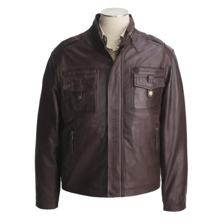 Tibor Leather Washed and Waxed Lambskin Jacket - Insulated (For Men)