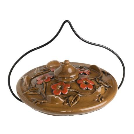 Parasol Habita Flora Hummingbird Feeder - Ceramic