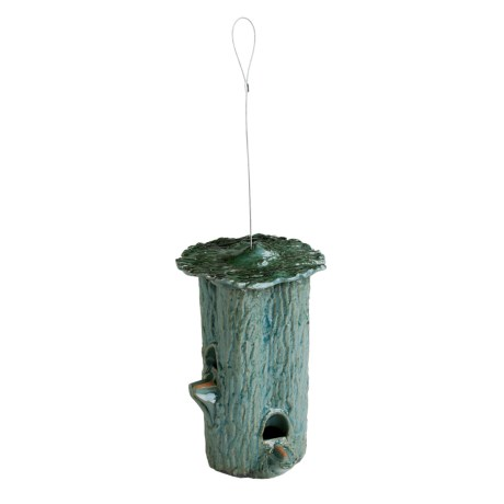 Parasol Habita Tree Trunk Ceramic Bird Feeder