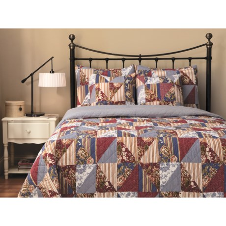 Ivy Hill Home Hampstead Cotton Quilt Set - Full-Queen