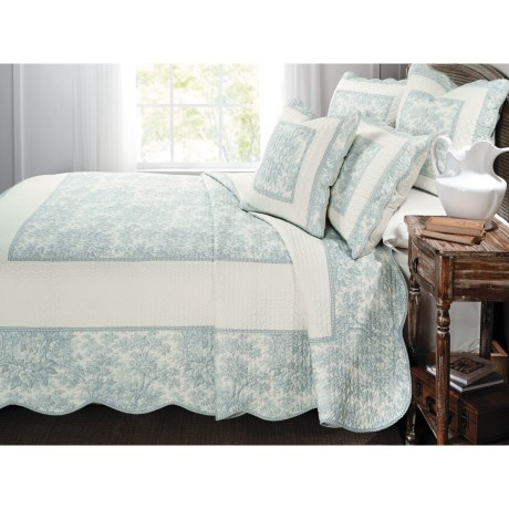Ivy Hill Home French Cottage Cotton Quilt Set - King