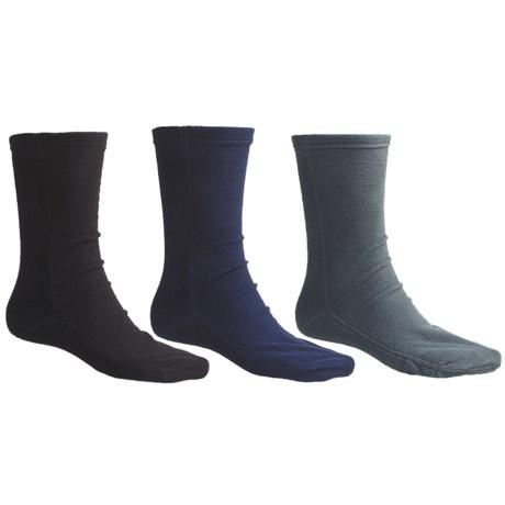 Wyoming Wear Fleece Crew Socks - 3-Pack, Midweight (For Men and Women)