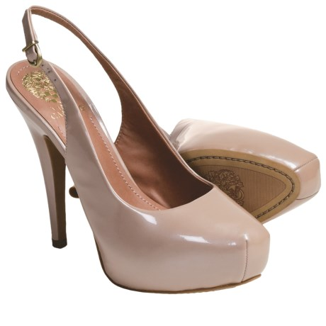Vince Camuto Kimmy Platform Heel Shoes - Leather, Sling-Back (For Women)