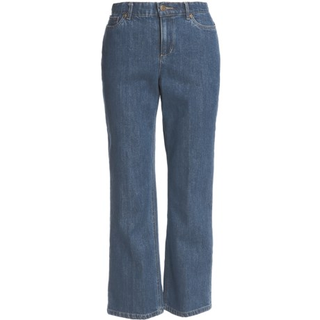 Five-Pocket Cotton Denim Jeans (For Petite Women)
