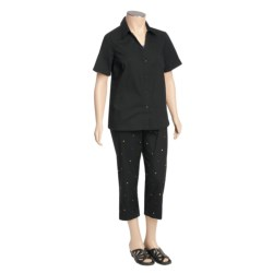 Specially made Layered Embroidered Shirt and Capri Set (For Plus Size Women)