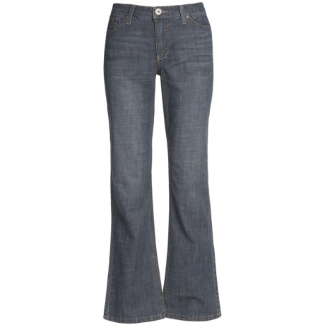 Lightweight Bootcut Jeans - Stretch Cotton (For Women)