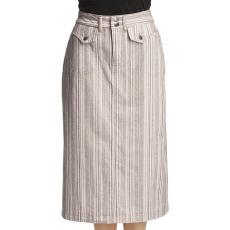 Ticking Stripe Trouser Skirt - Stretch Cotton (For Women)