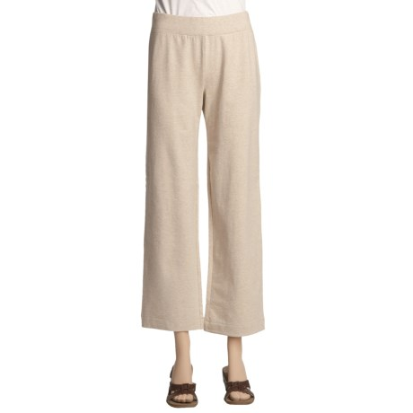 French Terry Cotton Stretch Pants (For Petite Women)