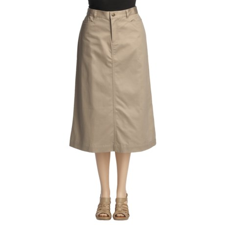 Cotton Twill Trouser Skirt (For Women)