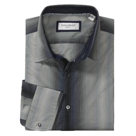 Equilibrio Tonal Stripe Sport Shirt - Long Sleeve (For Men)