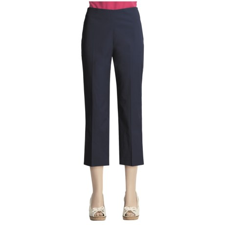 Flat Front Stretch Capris (For Women)