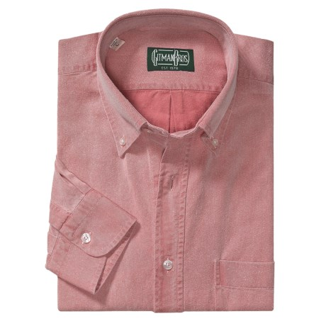 Gitman Brothers Cotton-Lyocell Sport Shirt - Long Sleeve (For Men)