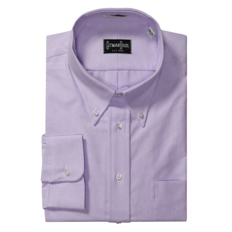 Gitman Brothers Solid Oxford Dress Shirt - Long Sleeve (For Big Men)