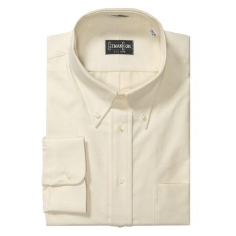 Gitman Brothers Solid Oxford Dress Shirt - Long Sleeve (For Big Men)