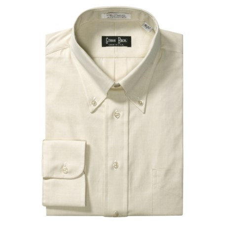 Gitman Brothers Pinpoint Oxford Dress Shirt - Long Sleeve (For Tall Men)