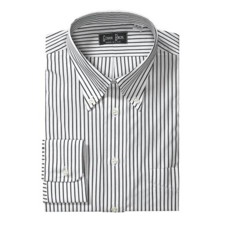 Gitman Brothers Bar Stripe Dress Shirt - Long Sleeve (For Tall Men)
