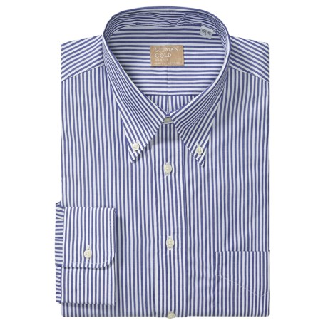 Gitman Brothers Striped Broadcloth Dress Shirt - Long Sleeve (For Tall Men)