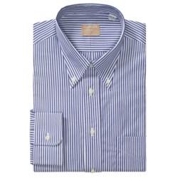 Gitman Brothers Striped Broadcloth Dress Shirt - Long Sleeve (For Big Men)