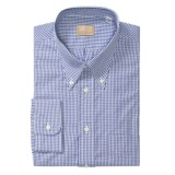 Gitman Brothers Cotton Check Dress Shirt - Long Sleeve (For Tall Men)